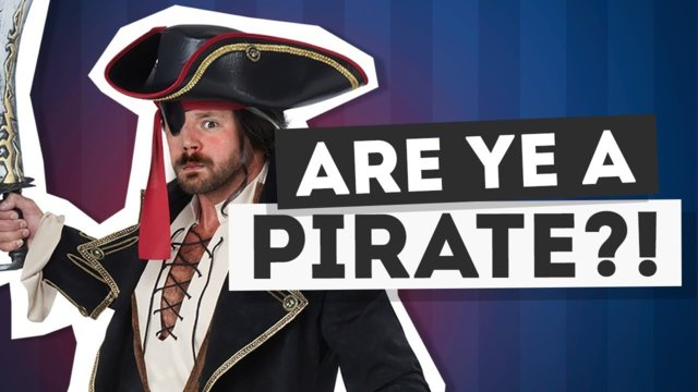 Ahoy Mateys Anthony has a message fer ye! #FreedomFamily -  pirate day